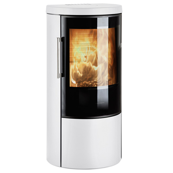Hwam 3640 6kw Defra Wood Burning Stove With Glass Door - White