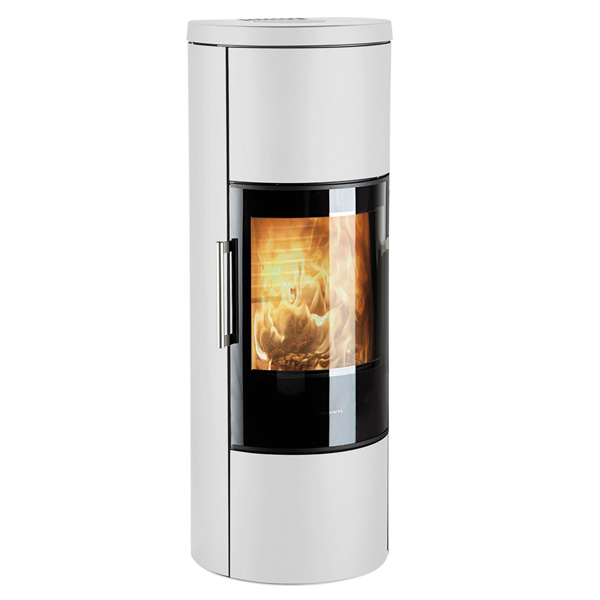 Hwam 3660 6kw Defra Wood Burning Stove With Glass Door - White