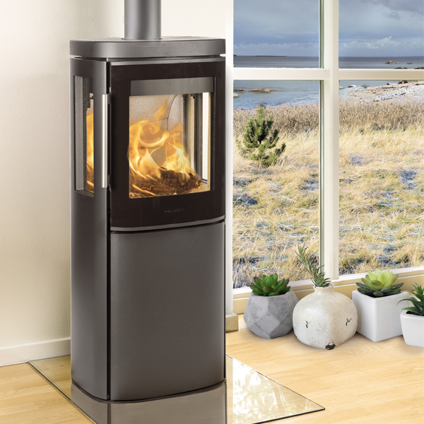 Hwam 4530 4.9kw Wood Burning Stove With Glass Door