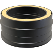 7 Inch Convesa KC 100mm Straight Length Insulated Pipe - Black