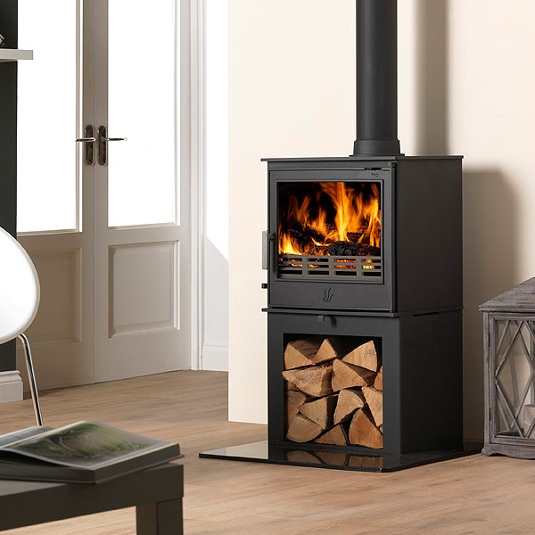 ACR Buxton 7kw Steel Defra Multifuel Stove With Log Store