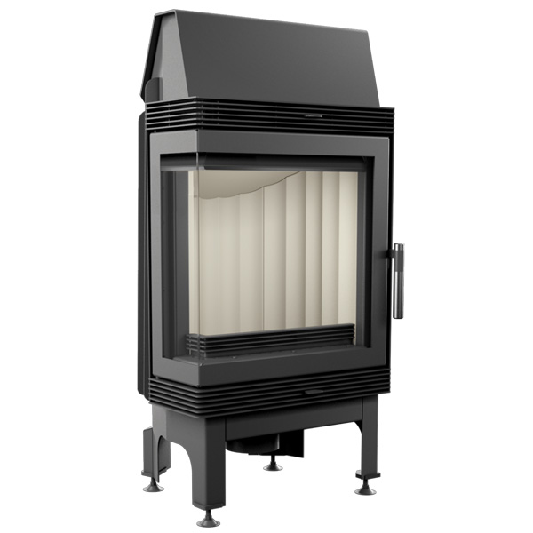 Kratki Blanka 8kw Inset Wood Burning Stove With Left Side Glass - BLANKA/L/BS