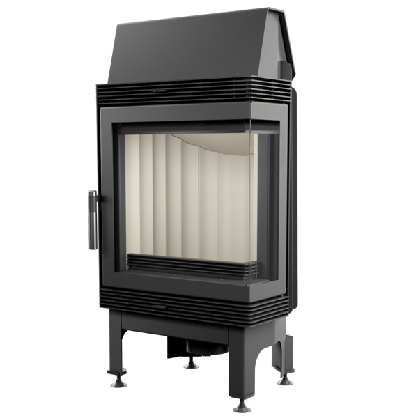 Kratki Blanka 8kw Inset Wood Burning Stove With Right Side Glass - BLANKA/P/BS