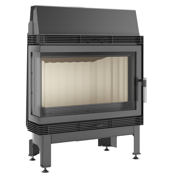 Kratki Blanka 11kw Inset Wood Burning Stove With Left Side Glass - BLANKA/670/570/L/BS