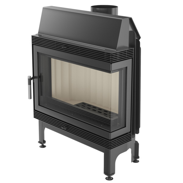 Kratki Blanka 11kw Inset Wood Burning Stove With Right Side Glass - BLANKA/670/570/L/BS