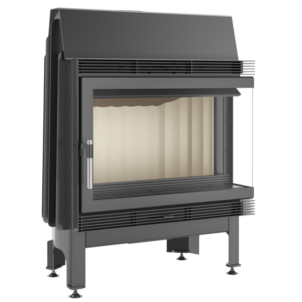 Kratki Blanka 11kw Inset Wood Burning Stove With Right Side Glass - BLANKA/670/570/P/BS