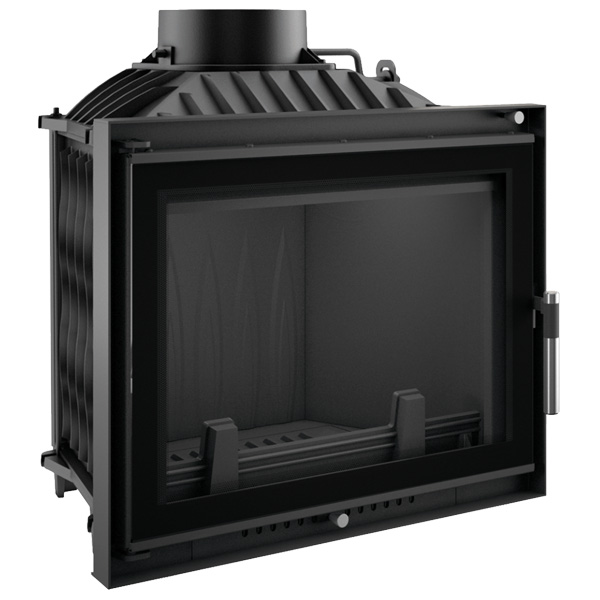 Kratki Eryk 12kw Inset Wood Burning Stove With Black Glass Edge - ERYK/DECO