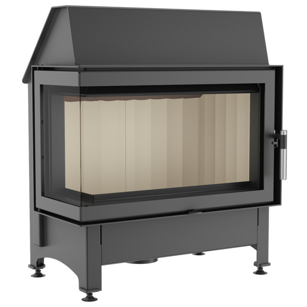 Kratki Zibi 11kw Inset Wood Burning Stove With Left Side Glass - ZIBI/L/BS