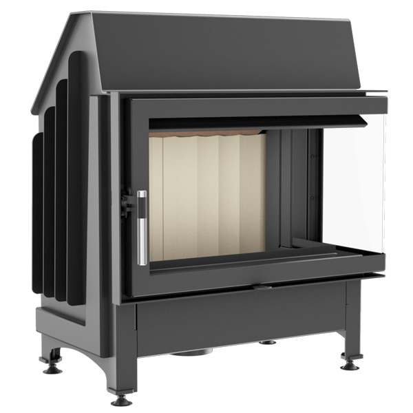 Kratki Zibi 11kw Inset Wood Burning Stove With Right Side Glass - ZIBI/P/BS