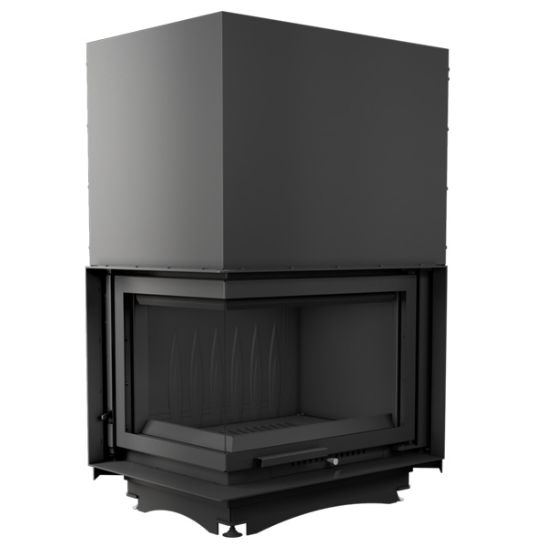Kratki Zuzia 16kw Inset Wood Burning Stove With Left Side Glass & Guillotine Door - ZUZIA/L/BS/G