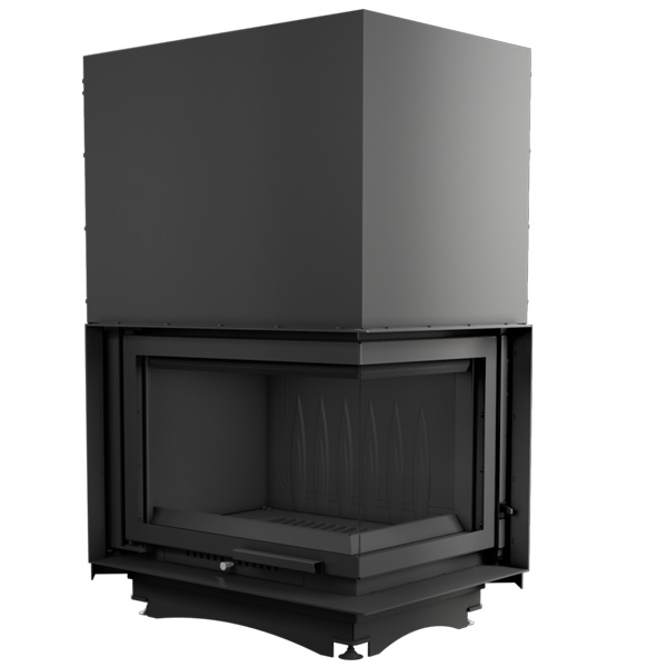 Kratki Zuzia 16kw Inset Wood Burning Stove With Right Side Glass & Guillotine Door - ZUZIA/P/BS/G