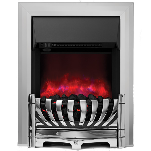 Be Modern Lexus Inset LED Electric Fire - Chrome
