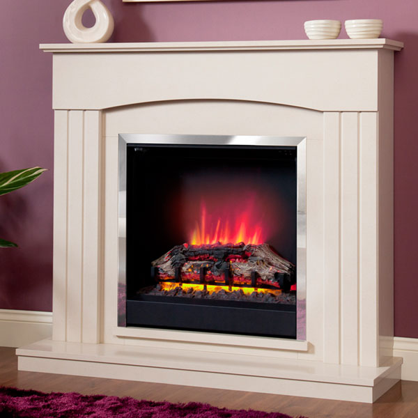 Be Modern Linmere Electric LED Fireplace - Chrome