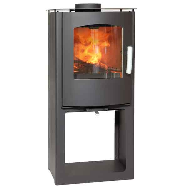 Mendip Churchill 8 MK4 - 7.5kw Defra Multifuel Convection Stove & Log Store