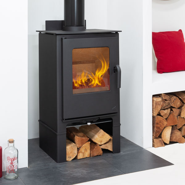 Mendip Loxton 8 MK4 - 7.5kw Defra Multifuel Stove With Log Store