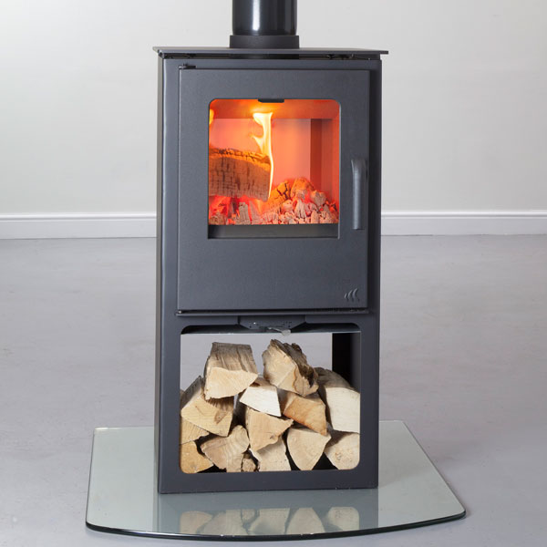 Mendip Loxton - 8kw Double Sided Multifuel Stove With Log Store