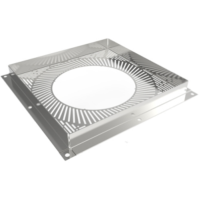8 Inch Convesa KC Ventilated Firestop Plate - White