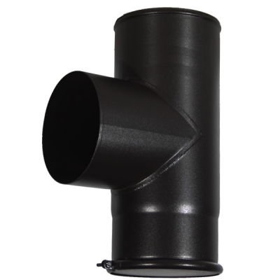 "5"" (125mm) 90° Tee Piece With Cap Flue Pipe"