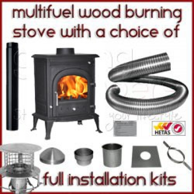 The Antelao 4kw Log Stove And Complete Flue Package 163 285