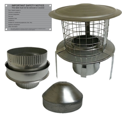 Flexible Chimney Flue Liner Fitting Kit Six