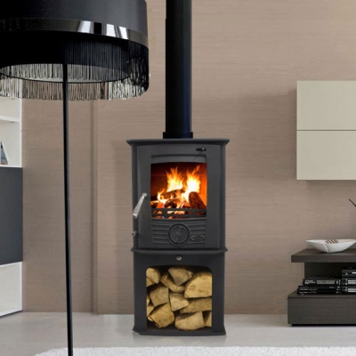 Henley Druid 5kw Defra Multifuel Stove With Log Store
