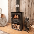 Henley Druid 8kw Defra Multifuel Stove With Log Store