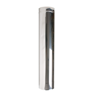 "5"" (125mm) 1000mm Length Of Twin Wall Insulated Flue Pipe"