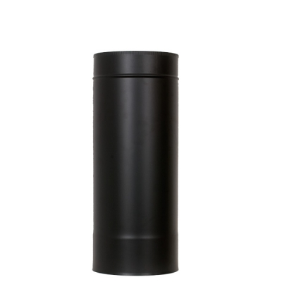 "5"" (125mm) 500mm Length Of Twin Wall Insulated Flue Pipe - Black"