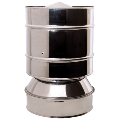 "5"" (125mm) Anti-Wind Cowl - Twin Wall Insulated Flue Pipe"