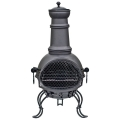 La Hacienda Murcia Medium Steel Chimenea With Grill - Black