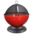 La Hacienda Globe Enamelled Firepit With Grill - Various Colours