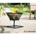 La Hacienda Morden Square Outdoor Fire Basket - Black