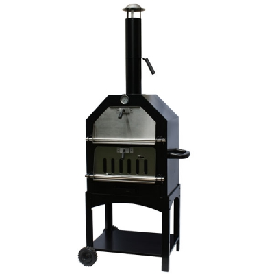 La Hacienda Lorenzo Wood Fired Oven - Black/Stainless Steel