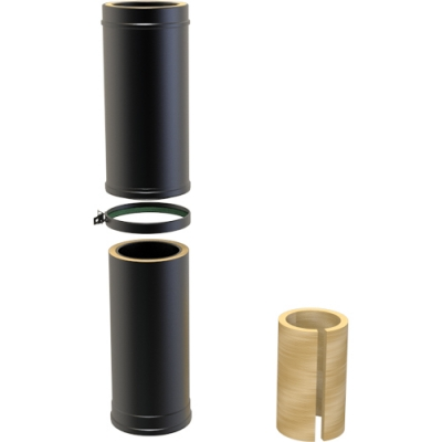 6 Inch Convesa KC 500-880mm Adjustable Length Insulated - Black