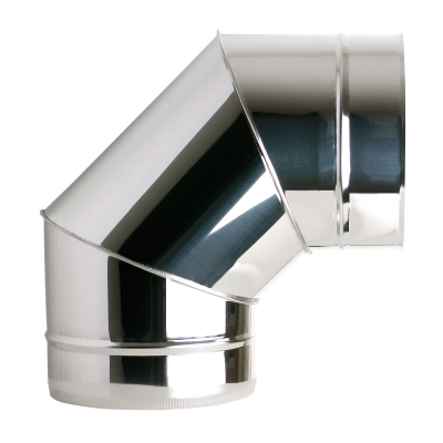 "7"" (175mm) 90° Elbow - Twin Wall Insulated Flue Pipe"