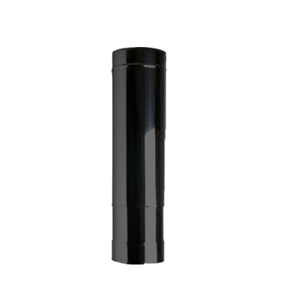 "8"" (200mm) 250mm-350mm Adjustable Length Of Twin Wall Insulated Flue Pipe - Black"