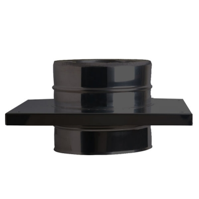 "8"" (200mm) Console Plate - Twin Wall Insulated Flue Pipe - Black"