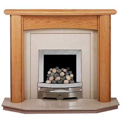 Prestige Kensington Hand Crafted Solid Wood Fire Surround - Oak