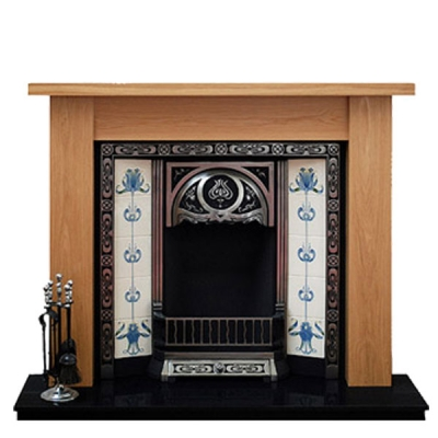 Prestige Camden Hand Crafted Solid Wood Fire Surround - Oak