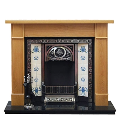 Prestige Worcester Hand Crafted Solid Wood Fire Surround - Oak