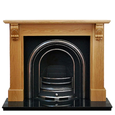 Prestige Victorian Hand Crafted Solid Wood Fire Surround - Oak