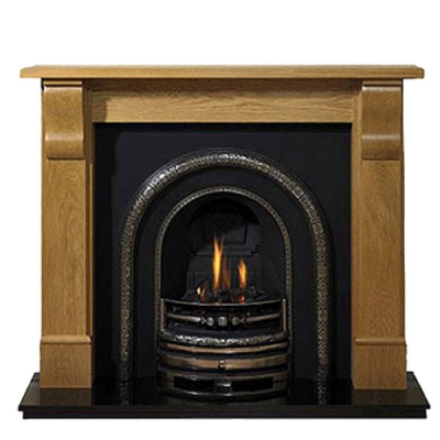 Prestige Grand Corbel Hand Crafted Solid Wood Fire Surround -Oak