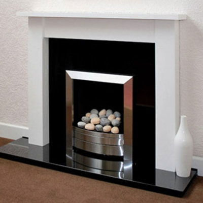 Prestige Camden Hand Crafted Solid Wood Fire Surround - White