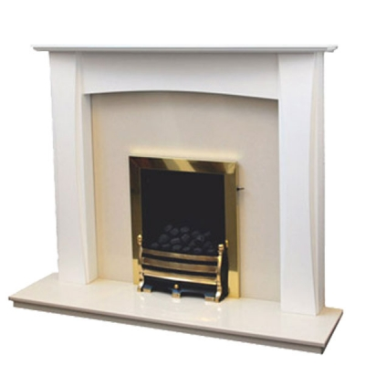 Prestige Lorna Hand Crafted Solid Wood Fire Surround - White