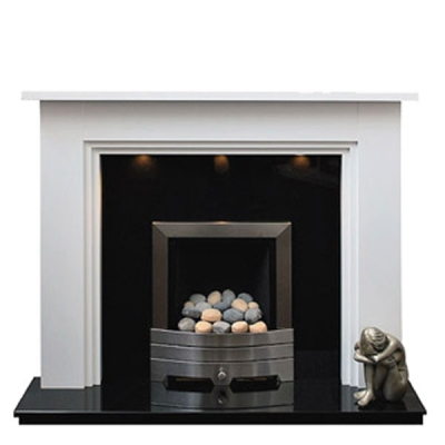 Prestige Nottingham Hand Crafted Solid Wood Fire Surround- White