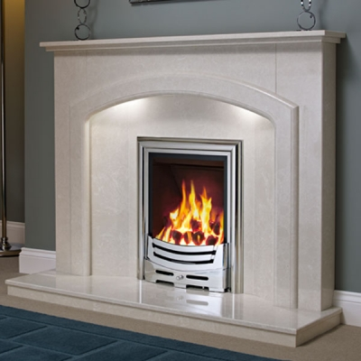 Be Modern Andorra Marble Fire Surround