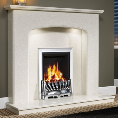 Be Modern Viola Marble Fire Surround