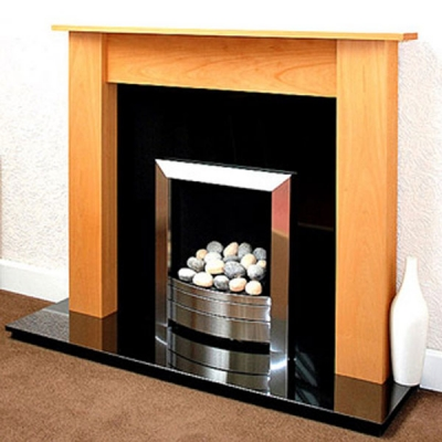 Prestige Eclipse Hand Crafted Solid Wood Fire Surround - Beech