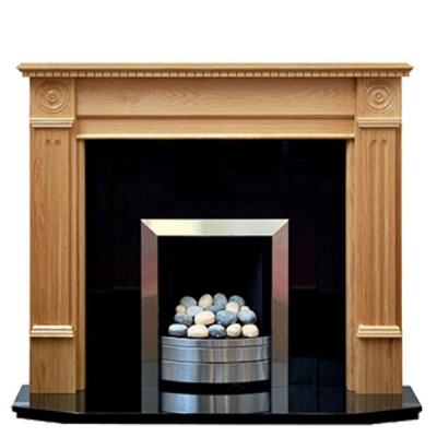 Prestige Roundel Hand Crafted Solid Wood Fire Surround - White