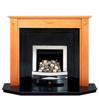 Prestige Diamond Hand Crafted Solid Wood Fire Surround - Oak